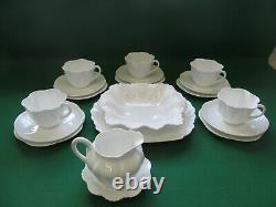 SHELLEY 21pc tea set. English bone china, porcelain/ Dainty-White/ Art-deco