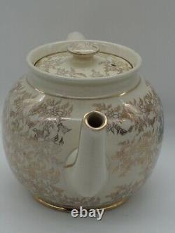 Sadler Art DecoTeapot Gold Chintz Flowers with Crinoline Lady 1150 D