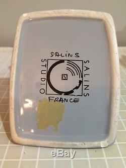 Salins Studio 1980 Gray Sugar and Creamer Art Deco France