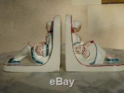 Serre Livre Art Deco Porcelaine Boulogne Sur Mer Henri Delcourt (robj Tharaud)