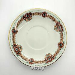 Service Thé Porcelaine Limoges Vintage Design Art Deco Bone China Tea Set 30