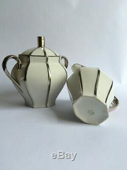 Service à café en porcelaine de limoges UNIQUE Art déco