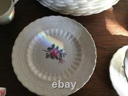Spode copeland billingsley rose dinnerware 46 pieces very good condition
