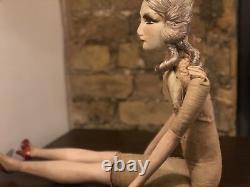 Stunning Original Art Deco 1930 Boudoir Doll French Hand Porcelain