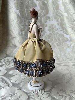 Superb Half-doll/demi-figurine/teepuppe/art Deco/ Pincushion Doll/flapper/fasold