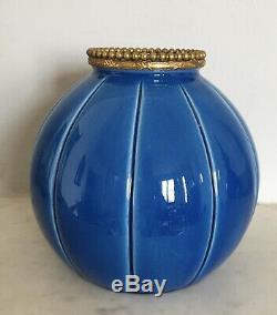 Superbe vase céramique PAUL MILLET Sèvres ART-DECO 1920 (Porcelaine.)
