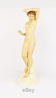 TOP Rare Antique 1920 ROYAL DUX Art Deco Dancer Figurine Women Naked Act