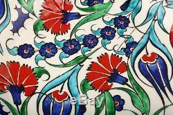 Turkish Handmade 10 25 cm Handpainted Iznik Ceramic Pottery Plate Decorative