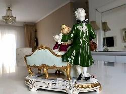 Unterweissbach ballerina German porcelain figurine violin Dresden Porcelain lace