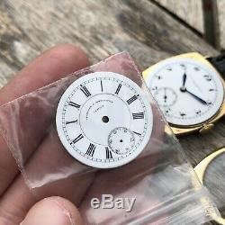 Vacheron Constantin Porcelain Dial 1920s Breguet Numerals 18K Gold Cushion Case