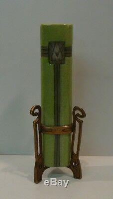 Vase Art Deco Style Art Nouveau Style Porcelain Bronze Ceramic