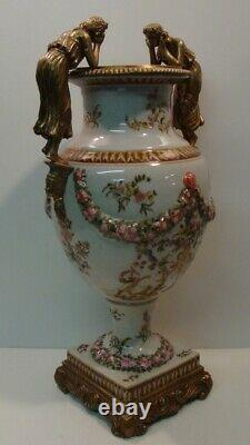 Vase Figurine Flower Art Deco Style Art Nouveau Style Porcelain Bronze Ceramic