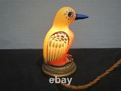 Veilleuse art deco 1920 oiseau en porcelaine