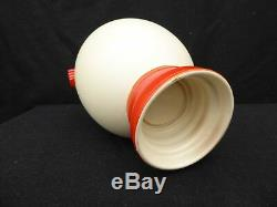Very Rare Boch Freres Ceramic Vase Art Deco Bauhaus Charles Catteau Belgium Top