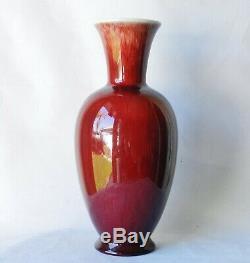 Vintage 1930's Catalina Island Pottery 11 Oxblood Sang de Boef Vase Art Deco