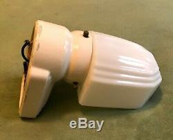 Vintage Art Deco Bathroom Wall Sconce Light Milk Glass Shade Porcelain