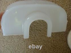 Vintage Art Deco Milk Glass Porcelain Bathroom Wall Sconce Light Outlet Re-wired
