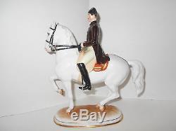 Vintage Art Deco Royal Vienna Augarten Wein Lipizzaner Horse Figurine