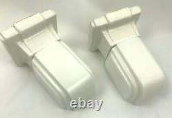 Vintage Art Deco Wall Mount Sconce Light Fixture White Porcelain Set 2 Alabax