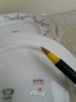 Vintage C. T. Germany Porcelain Rose-16 Piece Dessert Plates, Tea Cups & Saucers
