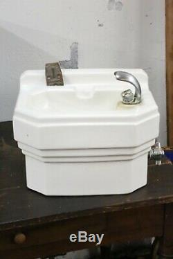 Vintage Drinking Water Fountain Art Deco Porcelain School House mount Standard