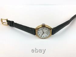 Vintage Exl OMEGA Gold plated Porcelain dial Swiss Watch 23.7S T2 pre military