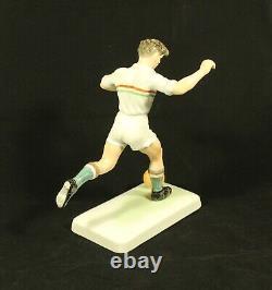 Vintage HEREND # 5852 Porcelain Art Deco Figurine PUSKAS 7/A Signed Hungary