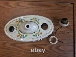 Vintage Lighting Porcelain Porcelier Sconce Ceiling Light Fixture Needs REWIRE