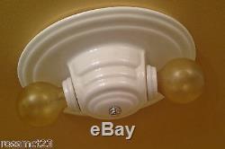 Vintage Lighting porcelain bath or kitchen fixture MORE AVAILABLE