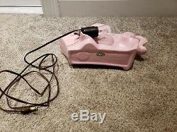 Vintage Mid Century Pink Horse Porcelain Sculpture Art Deco TV Television Lamp