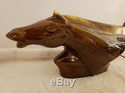 Vintage Modernist Horse Deco Mid Century Porcelain Art Deco TV Television Lamp