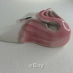 Vintage Pink Flamingo Deco Wall Pocket Sconce Vase Flapper Lady Head