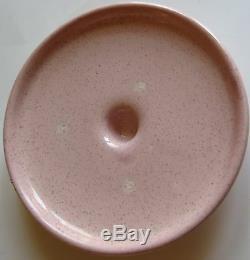 Vintage Pink Serving Dish Bauer Lid Pottery Copper Holder 1950 Casserole