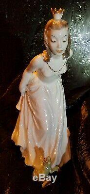 Vintage SIGNED German Rosenthal Porcelain Figurine Princess and Frog King