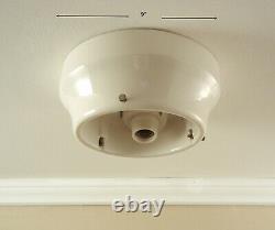 Vintage Schoolhouse Industrial Ceiling Light LARGE 2 Socket Porcelain Fixture