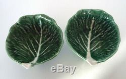 Vintage Secla Majolica Cabbage Leaf Salad Set 9 Piece Estate Lot P1487 Portugal