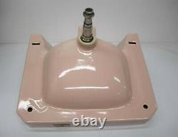Vtg 1950s American Standard Bathroom Lavatory Wall Sink Pink Porcelain As Is