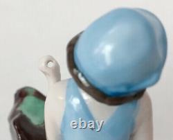 Vtg Bathing Beauty Lady Figuring Doll Blue Porcelain Ceramic German Art Deco