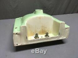 Vtg Mid Century Art Deco Ceramic Jade Green Apple Porcelain Bath SInk 328-19E