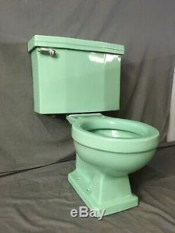 Vtg Mid Century Jadeite Ming Green Porcelain Toilet Standard WE SHIP 403-19E