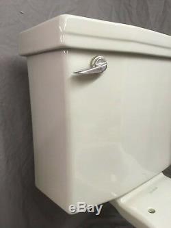 Vtg Mid Century Light Gray Art Deco Porcelain Toilet Old Standard Bath 20-19E