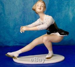 Wallendorf Antique Art Deco FIGURE SKATER Porcelain Figurine Germany