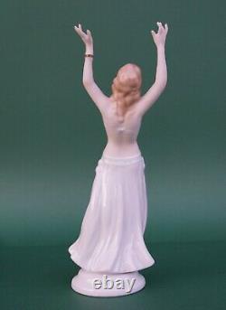 Wallendorf art deco belly dancer lady dancing girl hand painted german porcelain