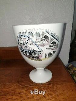 Wedgwood Eric Ravilious Boat Race Vase -1986 50th Commerative Anniversary